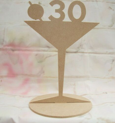 Cocktail glass MDF Freestanding Craft blank ANY AGE 18 21 30 40