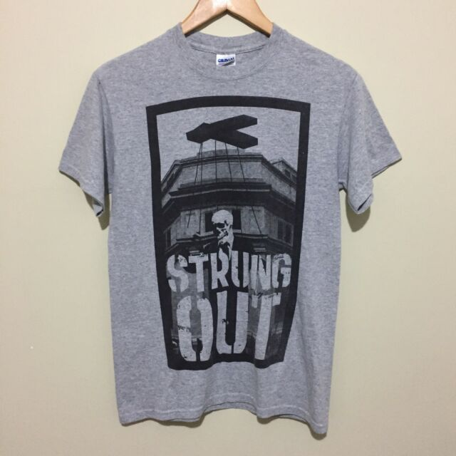Strung Out Skull Puppet Graphic T-Shirt Tee Rock Band Merch Grey Mens Small