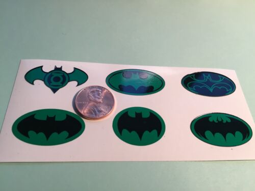Die Cut Green 1//6 Scale Set Of 6 Custom Batman Decals For 12 Inch Figures