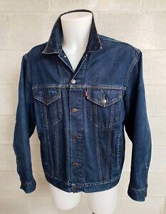Cotton Jacket Caricamento Denim Dell'immagine In Corso Levis Jeans Size L Giubbotto vmNn0wO8