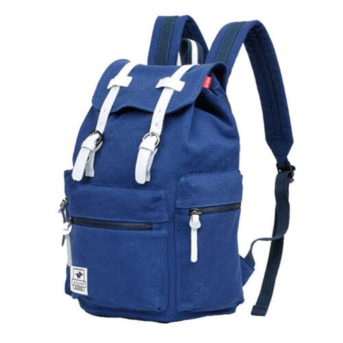 Men/'s Vintage Canvas Backpack Travel Rucksack Camping Satchel School Bag Bookbag