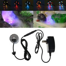 Ultrasonic Mist Maker Fogger Water Fountain Pond 12 LED Air Humidifier Atomizer