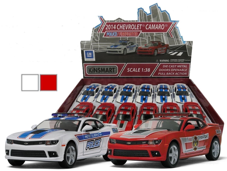 Nouveau kinsmart diecast cars 2014 Chevrolet Camaro Police ou Fire Rescue 5