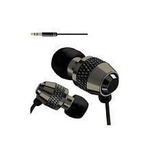 IN EAR EARPHONES HEADPHONE METAL NOISE ISOLATING EARPHONE FOR MP3 4 5 BLACK