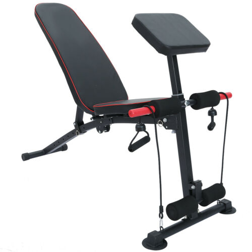 Multifunctional Adjustable Foldable Utility Weight Bench Sit Up Incline Decline