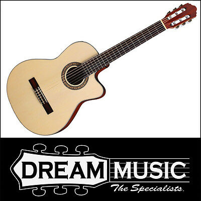 Musical Instruments & Gear Nice Crafter Hcc-240eq Solid Spruce Top Nat Gloss Electro Acoustic Rrp$399
