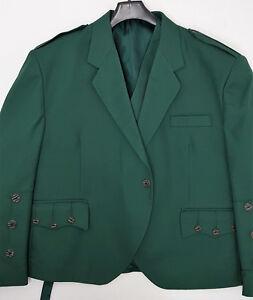 Brillant 60 S Vert Crail Kilt Veste & Gilet écossais Made Os Boutons Nouveau Off Sample-afficher Le Titre D'origine