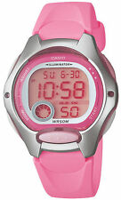 Casio LW200-4BV, Women's Digital Watch, Pink Resin Band, Alarm, Chronograph