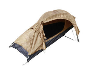 Image is loading One-Man-COYOTE-Military-Army-RECON-TENT-1-  sc 1 st  eBay & One Man COYOTE Military Army RECON TENT - 1 Berth Brown Single ...