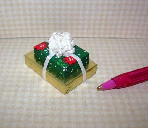 #3 DOLLHOUSE Miniatures 1:12 Scale Miniature DOUBLE Christmas Gift WHITE Bow
