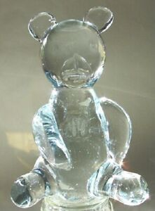 Beautiful-Clear-Glass-Crystal-Sitting-Teddy-Bear-6-Inches-High-NEW