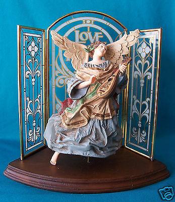Hallmark Decoration Ornament 1980 Heavenly Minstrel w Decorative Glass Triptych