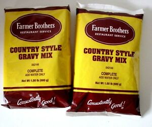 Gravy Mix By Farmer Brothers Country Style 2 Bags 15 Lb Bag 042144 1