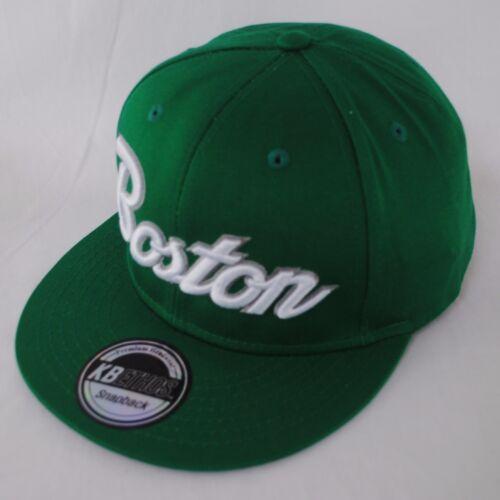 State Property Script Boston Snapback Flat Peak Baseball Hat Cap