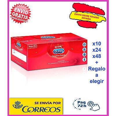 PRESERVATIVOS CONDONES DUREX SENSITIVO SUAVE 24 48 unidades + REGALO