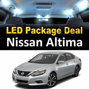 9x White Led Lights Interior Package Deal For 2002 2004 2005 2006 Nissan Altima Ebay