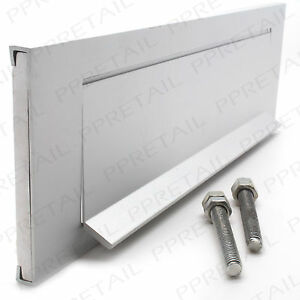 image is loading silver letter box plate snap shut covers 23cm - Letter Box Covers