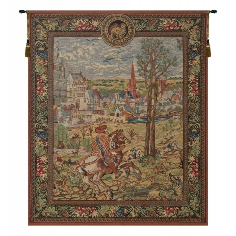 Vieux Brussels (Left Side) Belgian Tapestry Wall Hanging