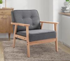 Vintage Danish Armchair Mid Century Chair Retro Fabric Sofa Modern Grey Seat NEW