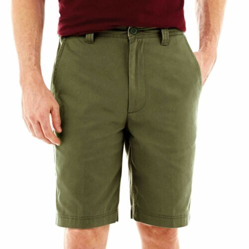 St Johns Bay Mens Shorts Legacy Flat Front Cotton size 38 40 44 NEW