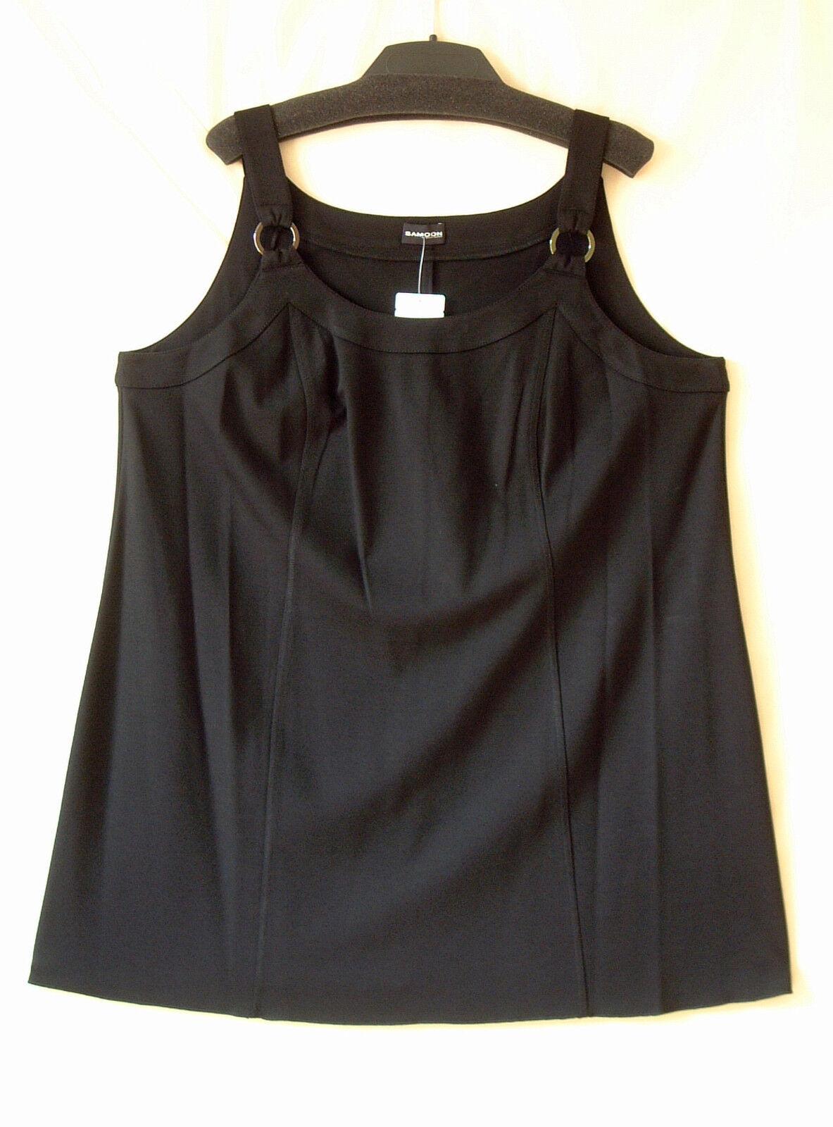 Samoon Top Kurz Kleid by Gerry Weber schwarz Stretch ViskoseMix Neu Damen Gr.54
