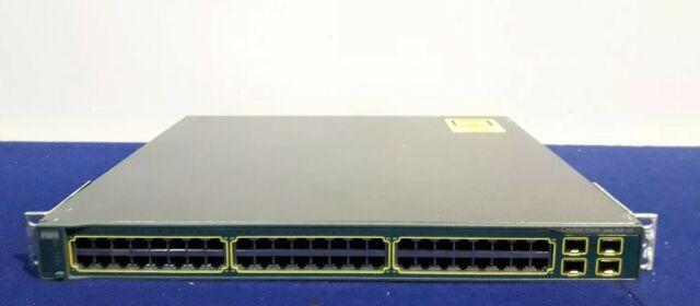 Cisco Catalyst WS-C3560G-48PS-E V04 48-Port 10/100 PoE Switch w/ Brackets
