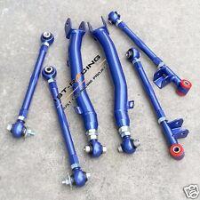 Blue FOR subaru WRX STI Rear Lateral Link+Trailing Arm Kit Suspension GDA GDB