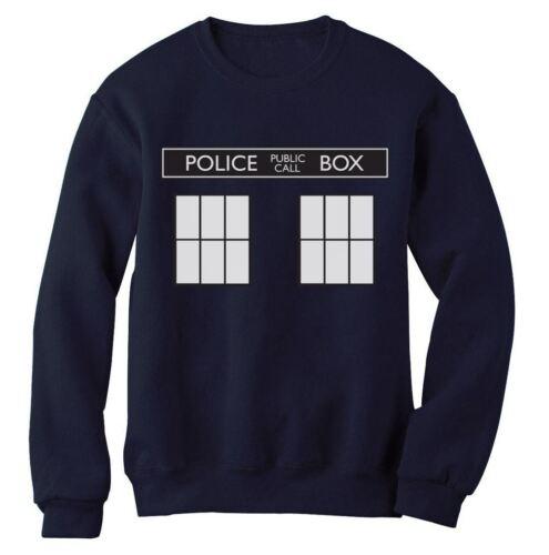 TARDIS POLICE BOX Sweatshirt doctor dr 50th Anniversary show Fan who costume