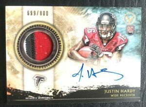 2015-Topps-Valor-3-Color-Patch-Autograph-Justin-Hardy-RC-Auto-699-800