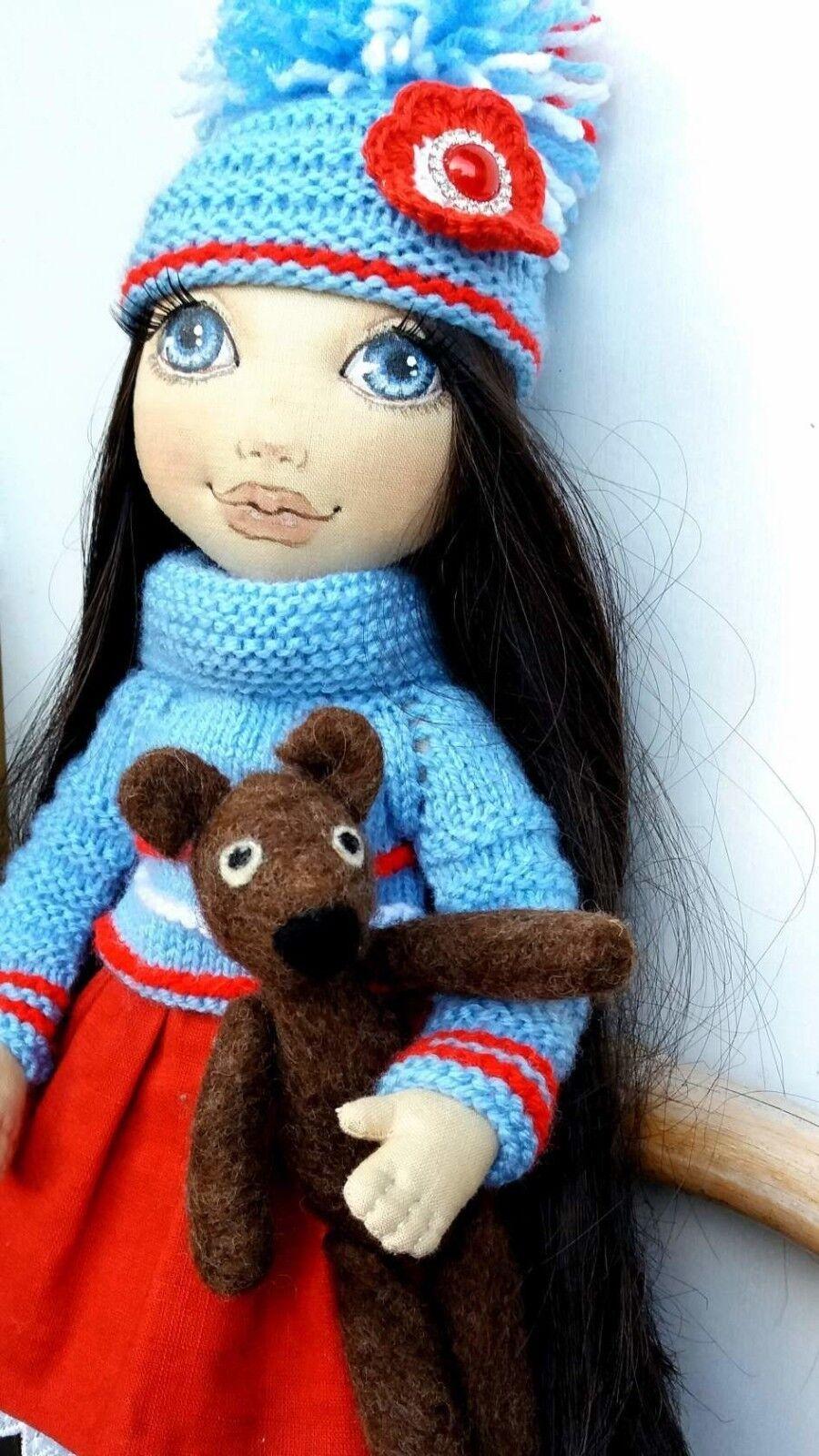 Stoffpuppe Tilda Puppe  Decorpuppe Handarbeit Puppe Tilda