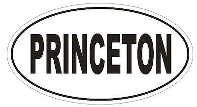 PRINCETON Oval Bumper Sticker or Helmet Sticker D1830 Euro Oval University