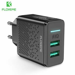 Dual-USB-Charger-Fast-Charging-Wall-Charger-Adapter-EU-Plug-Mobile-Phone-5V-2-4A