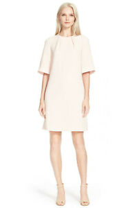 0a3db2e0e7c08 TED BAKER pink bell sleeve pleat A-line flare shift dress tunic zip ...