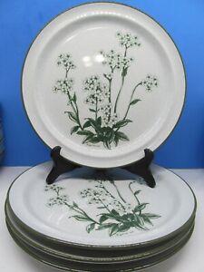 Noritake-Stoneware-Mountain-Flowers-Dinner-Plates-Bundle-of-4