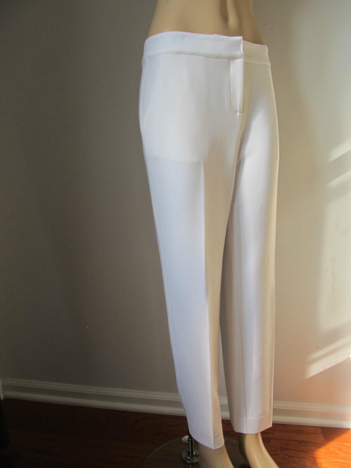 NEW  ST JOHN KNIT SIZE 6 WOMENS PANTS BRIGHT WHITE EMMA STRAIGHT LEG