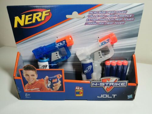 Nerf N-Strike Elite Jolt Twin Pack Hasbro Taille Micro Nerf Toy Set 4x Fléchettes