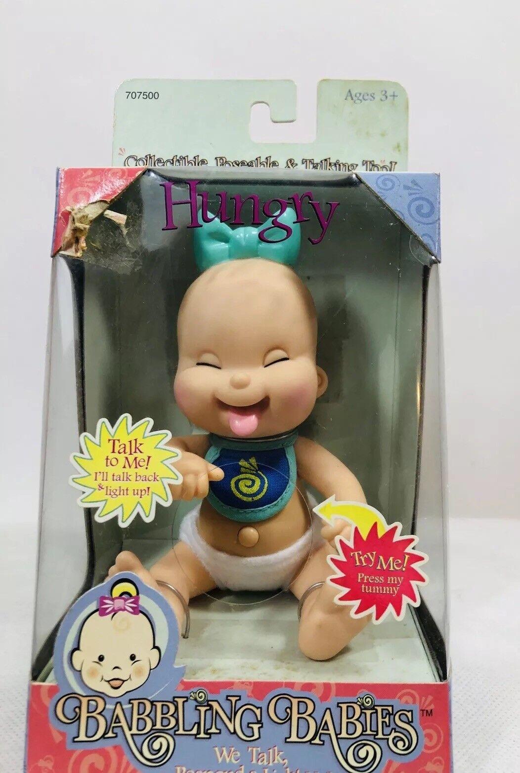 NIB SUPER RARE Mel BIRNKRANT'S (GALOOB (GALOOB (GALOOB Baby Face DOLLS) BABBLING BABIES  Hungry  62358d
