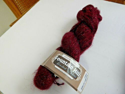 Fountain Hill Brushed Mohair w// metallic yarn by Kramer Yarns  6 COLORS