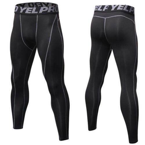 Mens Compression Long Pants Slim Fit Activewear Sports Fitness Joggings Leggings