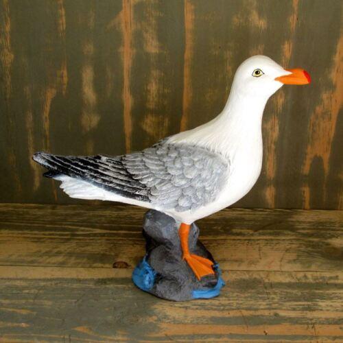 GROSSE MÖWE auf STEIN Garten Deko Tier Figur maritim MEER NORDSEE Vogel TEICH