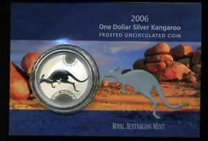 Australia-2006-1-Frosted-Uncirculated-999-1-oz-Silver-Kangaroo-Dollar
