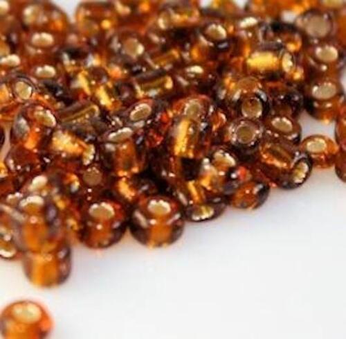 100 g Plata Forrado Vidrio Seed Beads 11//0-2mm 8//0-3 Mm 6//0-4mm 26 Color Elección