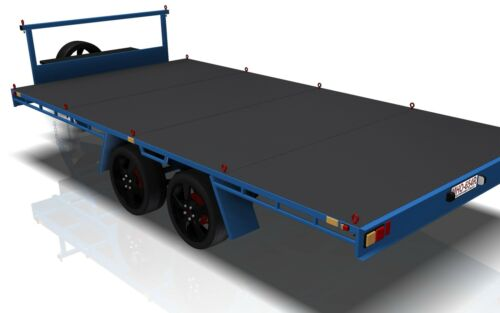 4.8m FLAT TOP TRAILER PLANS Trailer Plans PRINTED HARDCOPY-Car Trailer,Flatbed