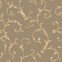 Sirpi Floral Leaf Pattern Wallpaper Metallic Glitter Italian Heavy Weight Vinyl