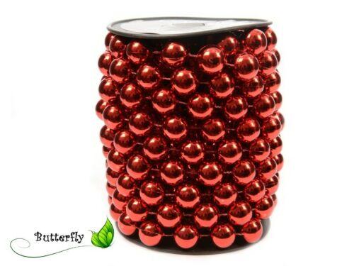 5m Perlenkette 14mm Perlengirlande Perlenband Weihnachten Perlenschnur