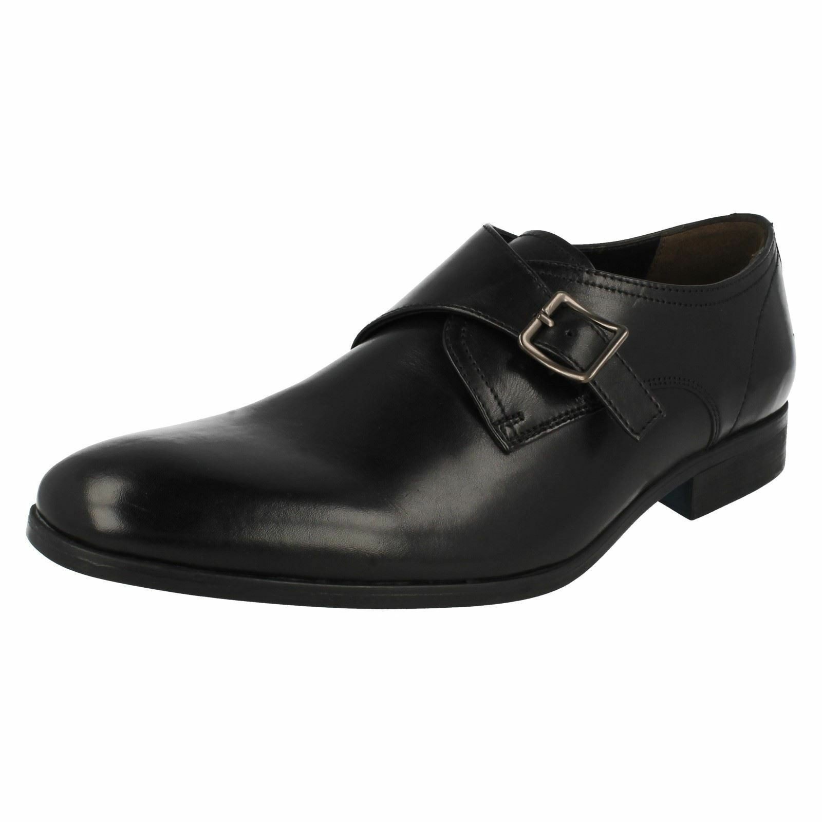 Mens Clarks Formal Buckle Strap Monk Shoes Banfield Monk Strap 60024f