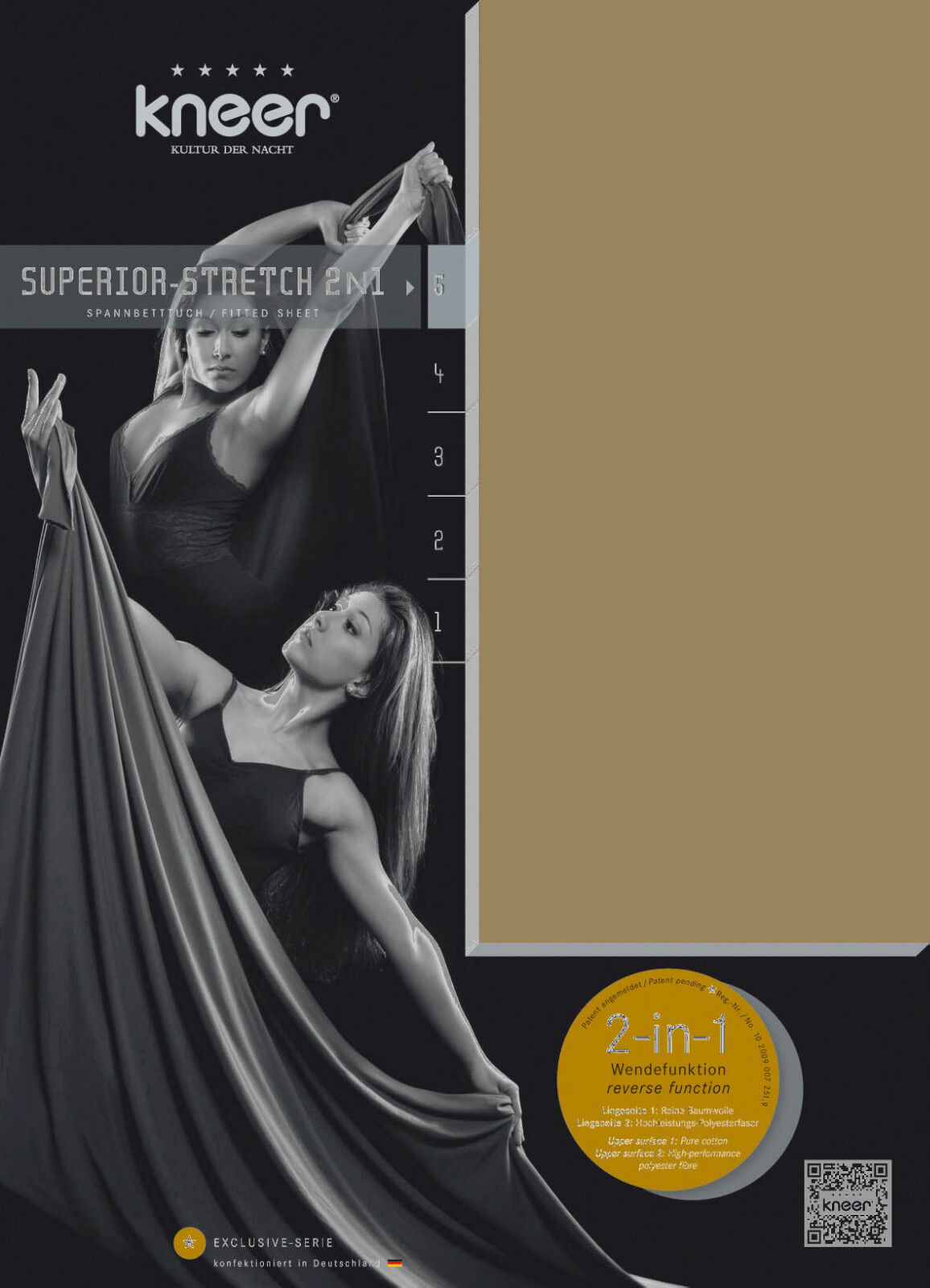 Wende- Spannbetttuch SUPERIOR-STRETCH SUPERIOR-STRETCH SUPERIOR-STRETCH 2N1 90x190 - 100x220 Kneer Q98 14 Farben 69bf84