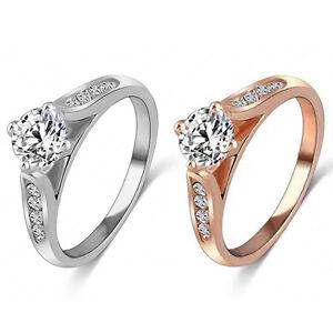 Eg-Damen-Hochzeit-Verlobung-Cz-Legierung-Finger-Ring-Luxus-Schmuck-Dreame