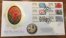 GB. 2014 Benham First Day Coin Cover British Flora- Symbolic Flowers Post & Go