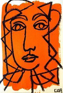 CUBISM IMPRESSIONIST LADY FINE ART ORIGINAL SIGNED NUMBERED CONTEMPORARY HOME